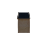 DWF Blokhut kapschuur 150 x 200cm