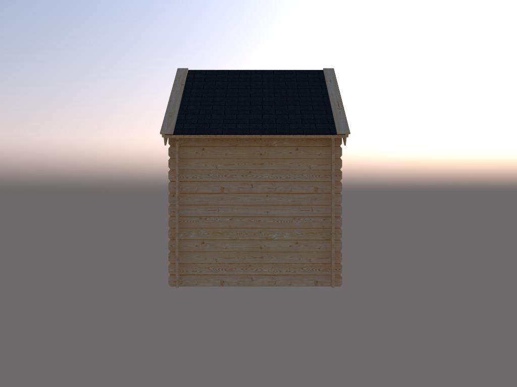DWF Blokhut kapschuur 200 x 200cm