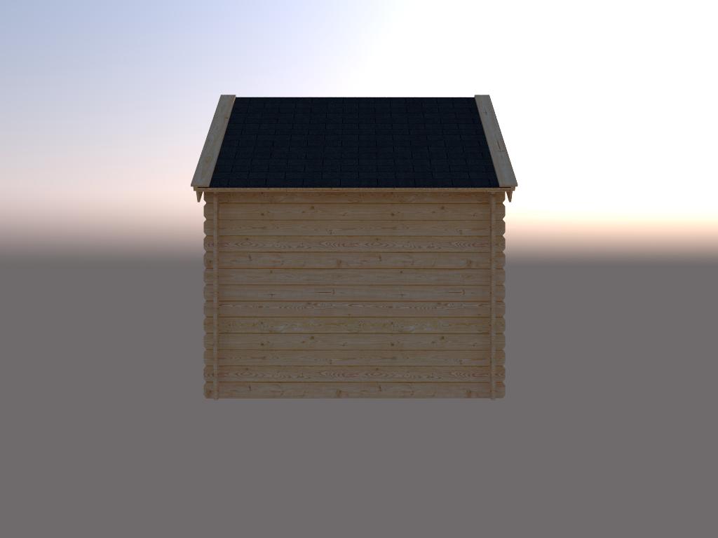 DWF Blokhut kapschuur 250 x 200cm