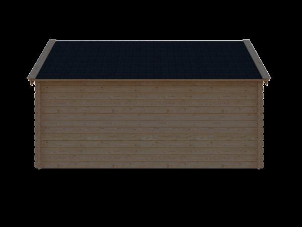 DWF Blokhut kapschuur 450 x 200cm