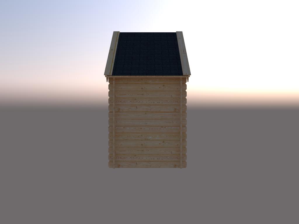 DWF Blokhut kapschuur 150 x 250cm