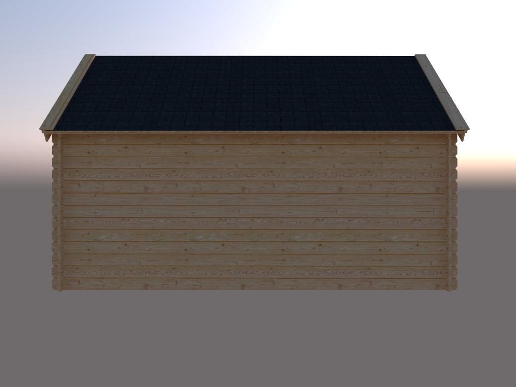 DWF Blokhut kapschuur 450 x 250cm