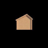 DWF Blokhut kapschuur 150 x 300cm
