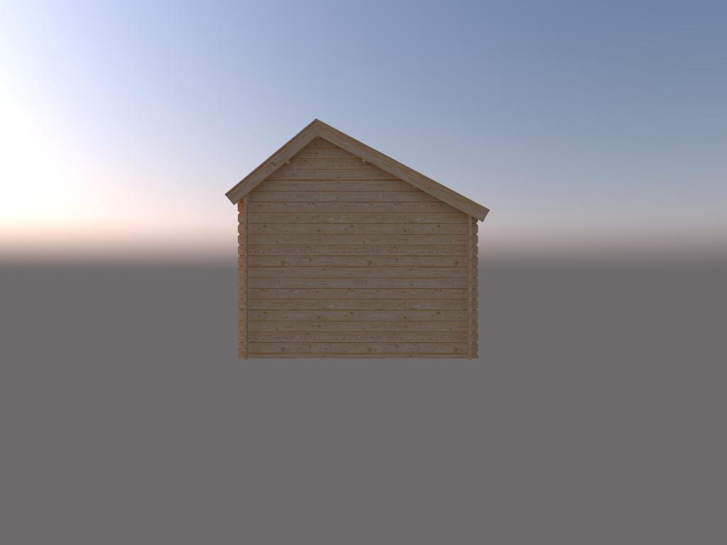 DWF Blokhut kapschuur 250 x 300cm