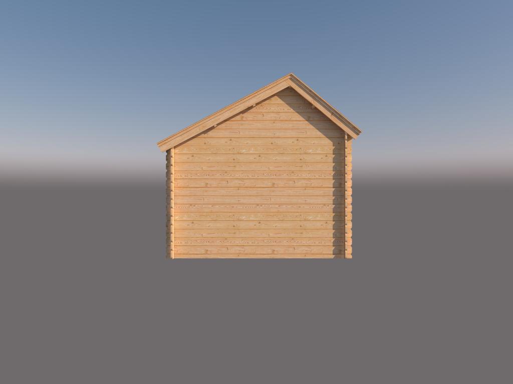 DWF Blokhut kapschuur 300 x 300cm
