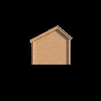 DWF Blokhut kapschuur 350 x 300cm