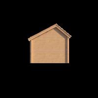 DWF Blokhut kapschuur 400 x 300cm