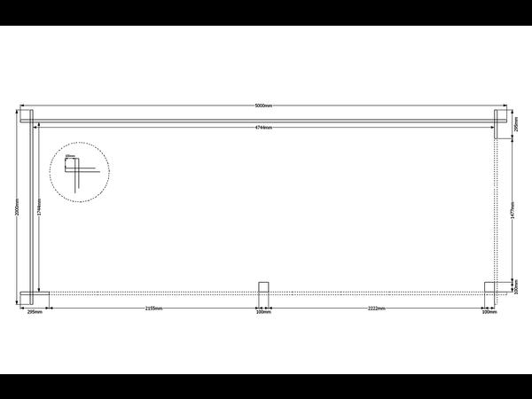 DWF Houten overkapping zadeldak 500 x 200cm