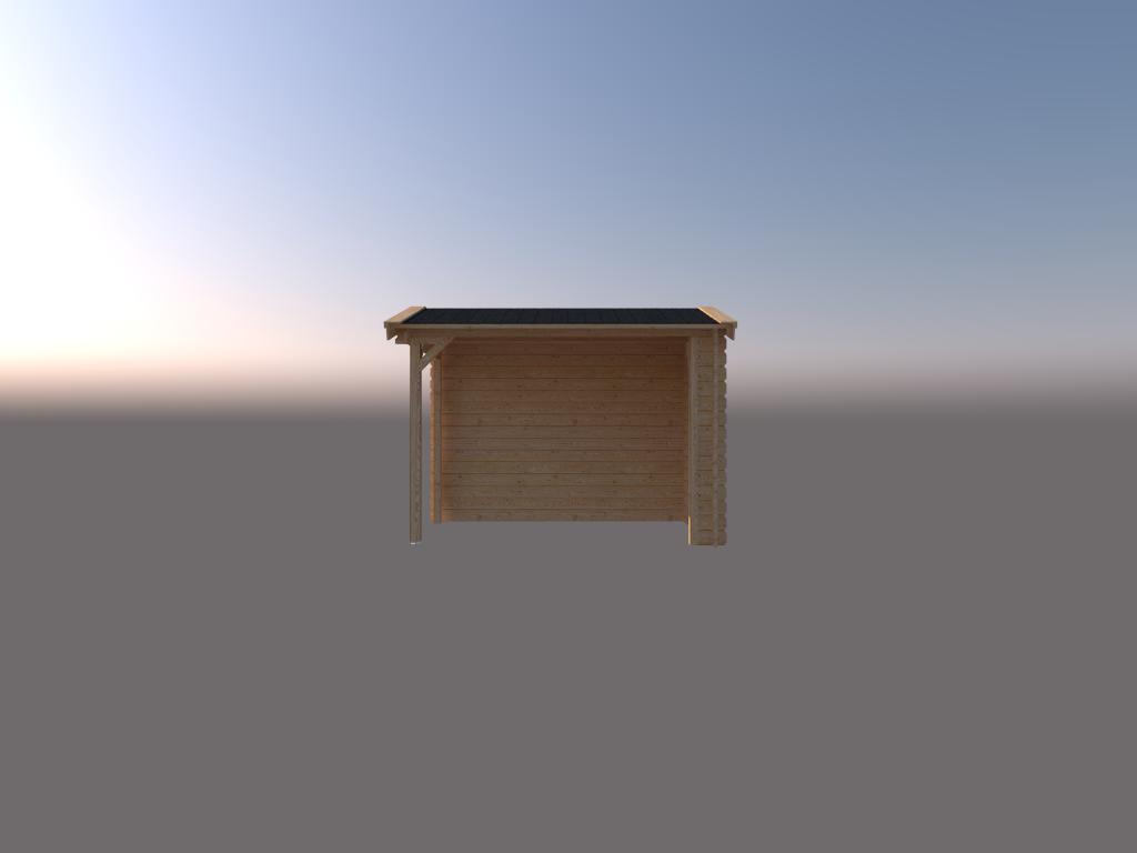 DWF Houten overkapping zadeldak 200 x 300cm