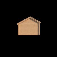 DWF Blokhut kapschuur 150 x 350cm