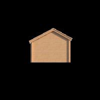 DWF Blokhut kapschuur 200 x 350cm