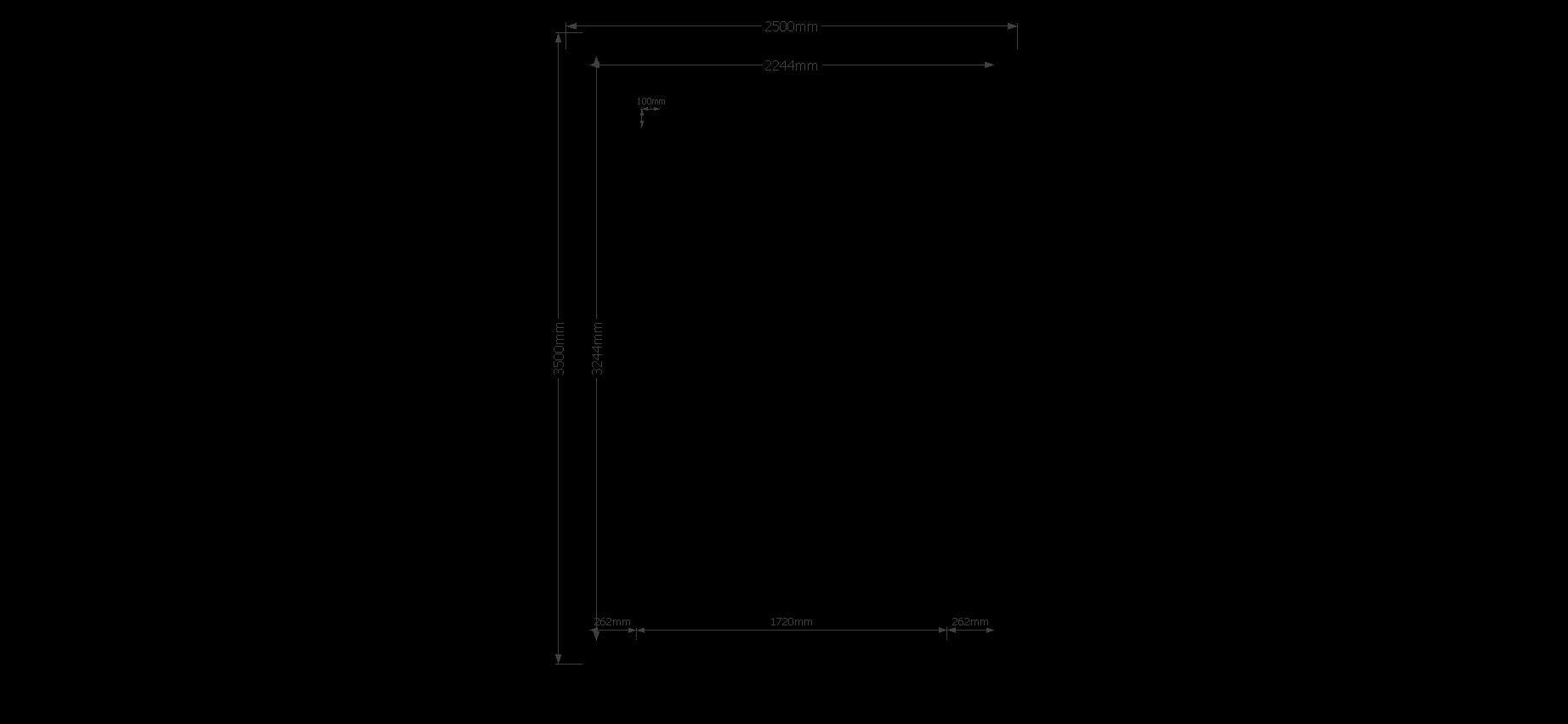 DWF Blokhut kapschuur 250 x 350cm