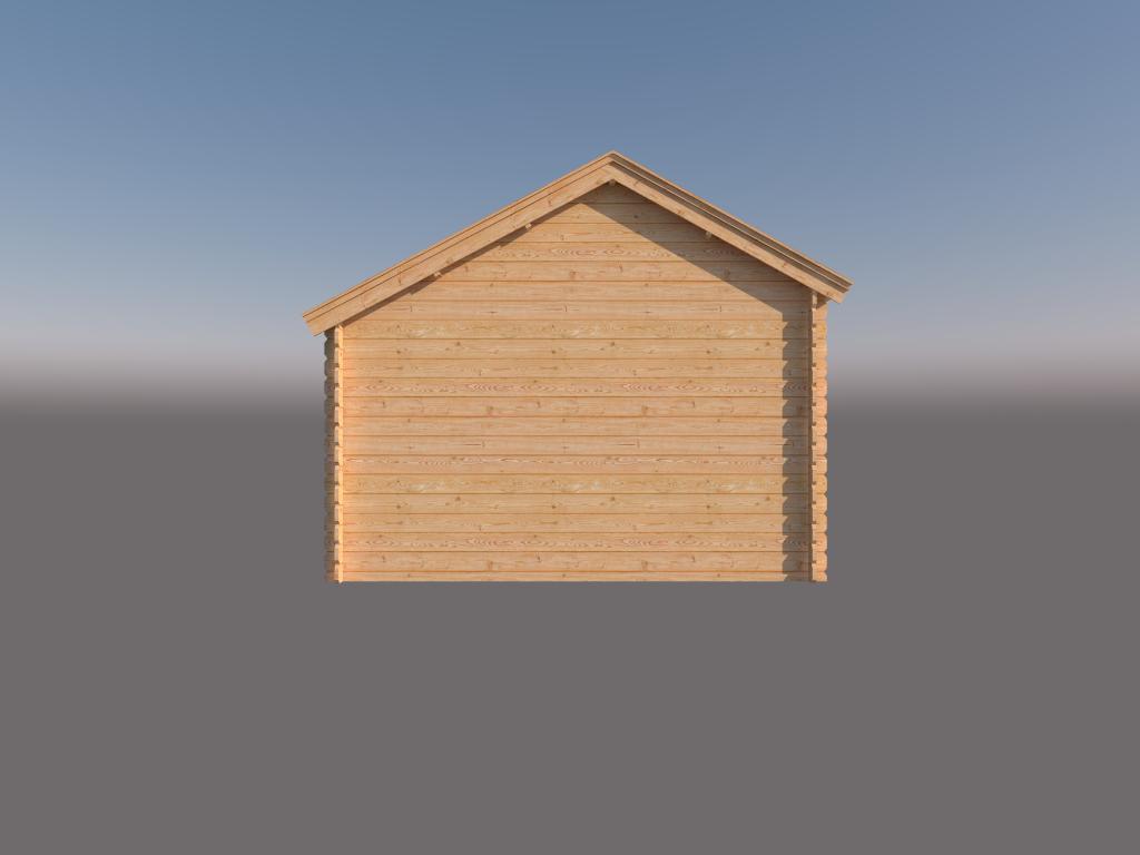 DWF Blokhut kapschuur 350 x 350cm