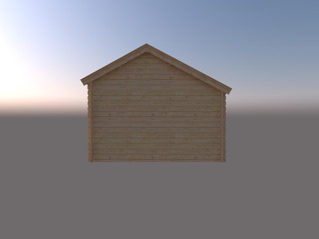DWF Blokhut kapschuur 400 x 350cm