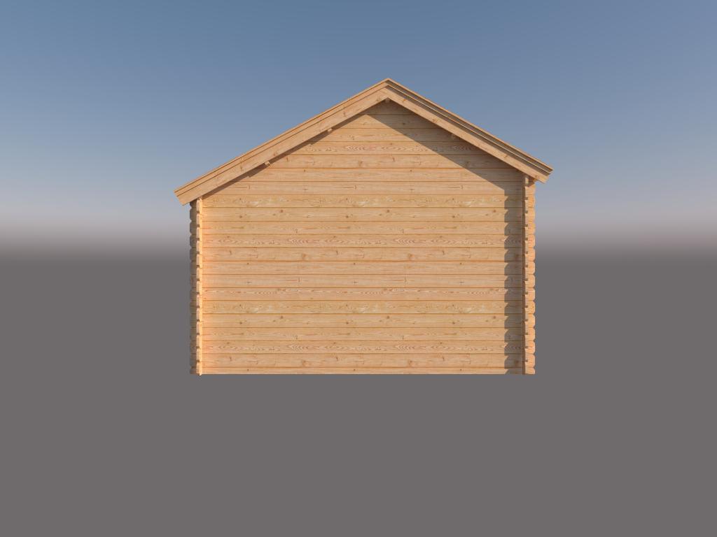 DWF Blokhut kapschuur 450 x 350cm