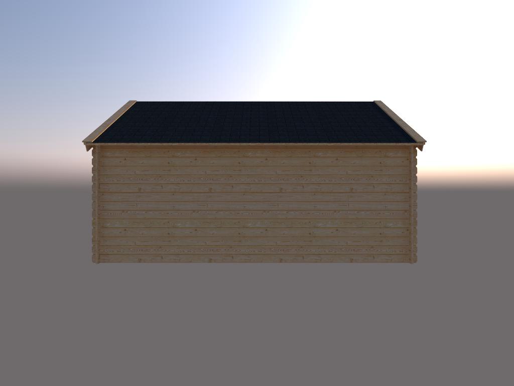 DWF Blokhut kapschuur 500 x 350cm