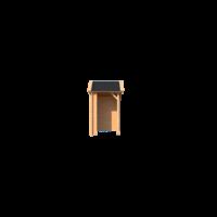 DWF Houten overkapping Kapschuur dak 150 x 150cm