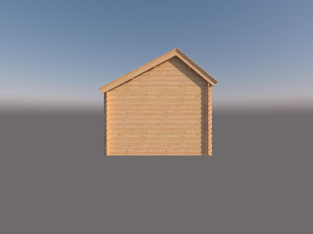 DWF Houten overkapping Kapschuur dak 350 x 300cm