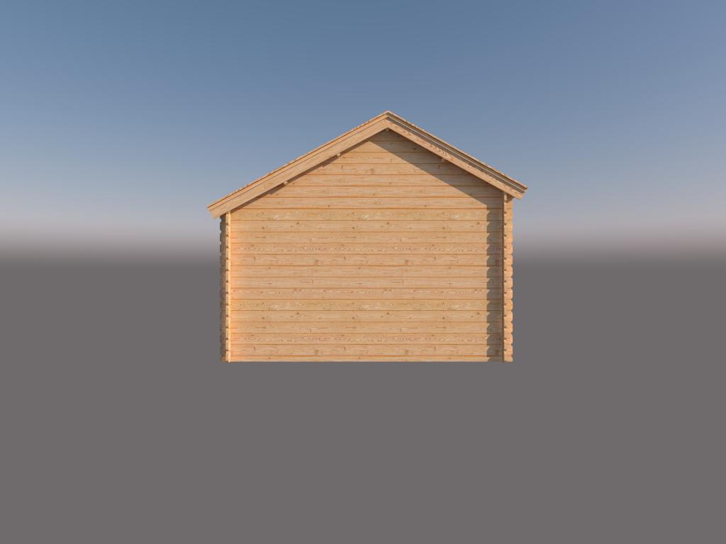 DWF Houten overkapping Kapschuur dak 350 x 350cm