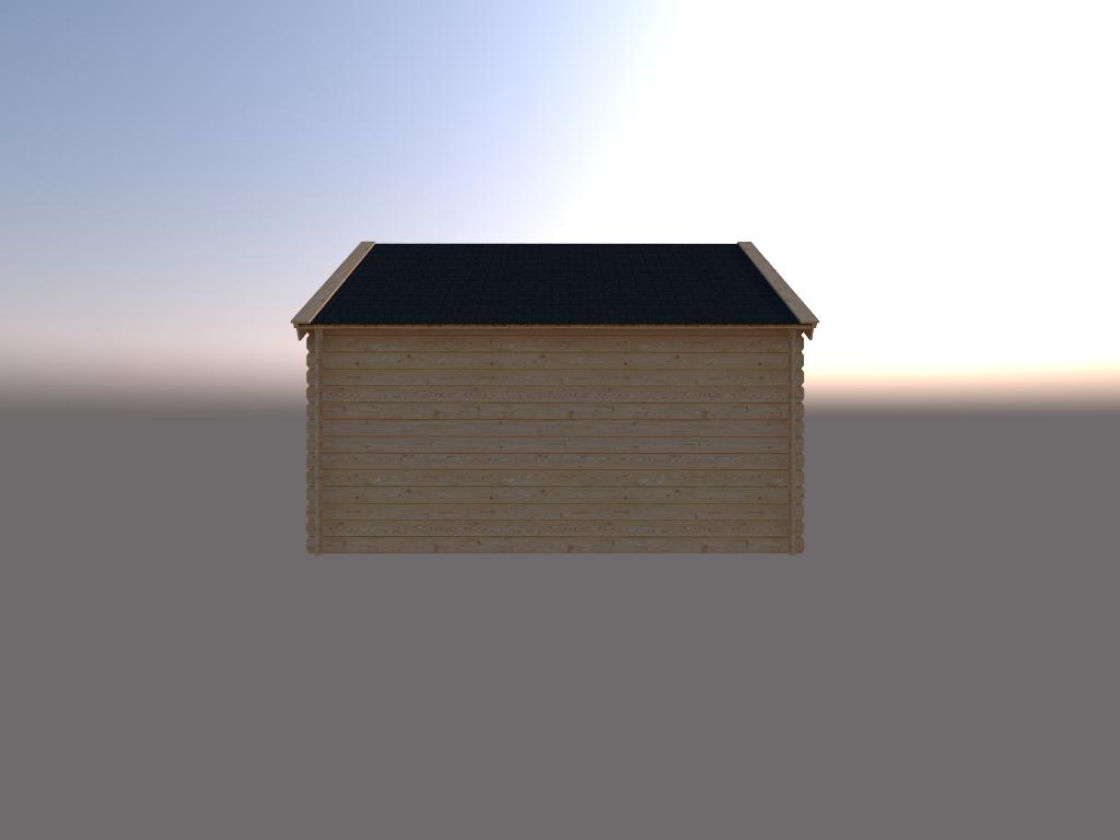 DWF Houten overkapping Kapschuur dak 400 x 300cm