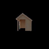 DWF Houten overkapping Kapschuur dak 450 x 250cm