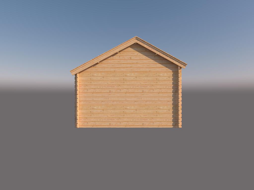 DWF Houten overkapping Kapschuur dak 400 x 350cm