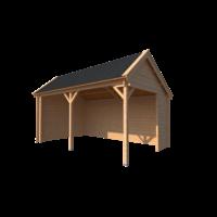 DWF Houten overkapping Kapschuur dak 500 x 300cm