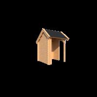 DWF Houten overkapping Kapschuur dak 200 x 200cm