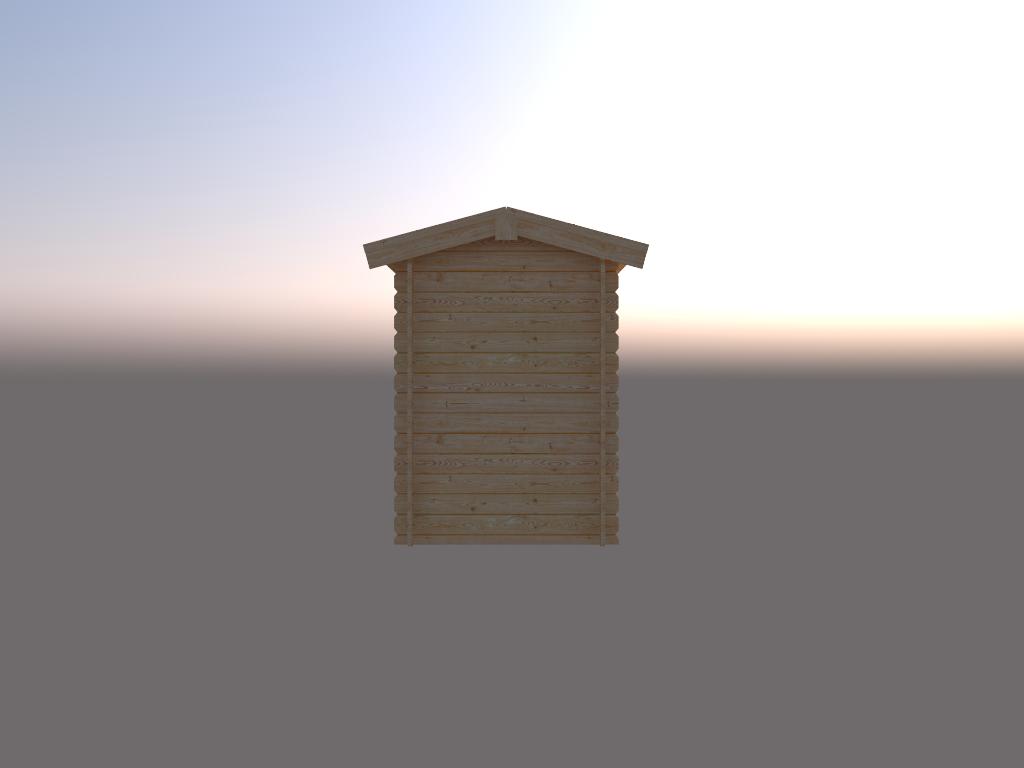 DWF Blokhut zadeldak 150 x 200cm