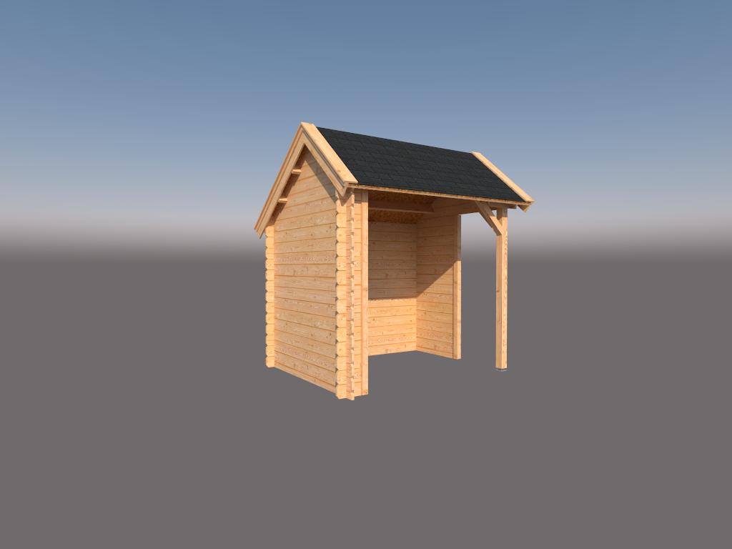 DWF Houten overkapping Kapschuur dak 250 x 200cm