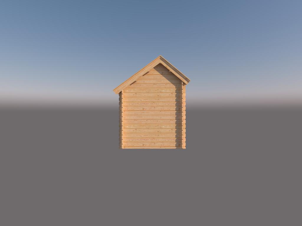 DWF Houten overkapping Kapschuur dak 300 x 200cm