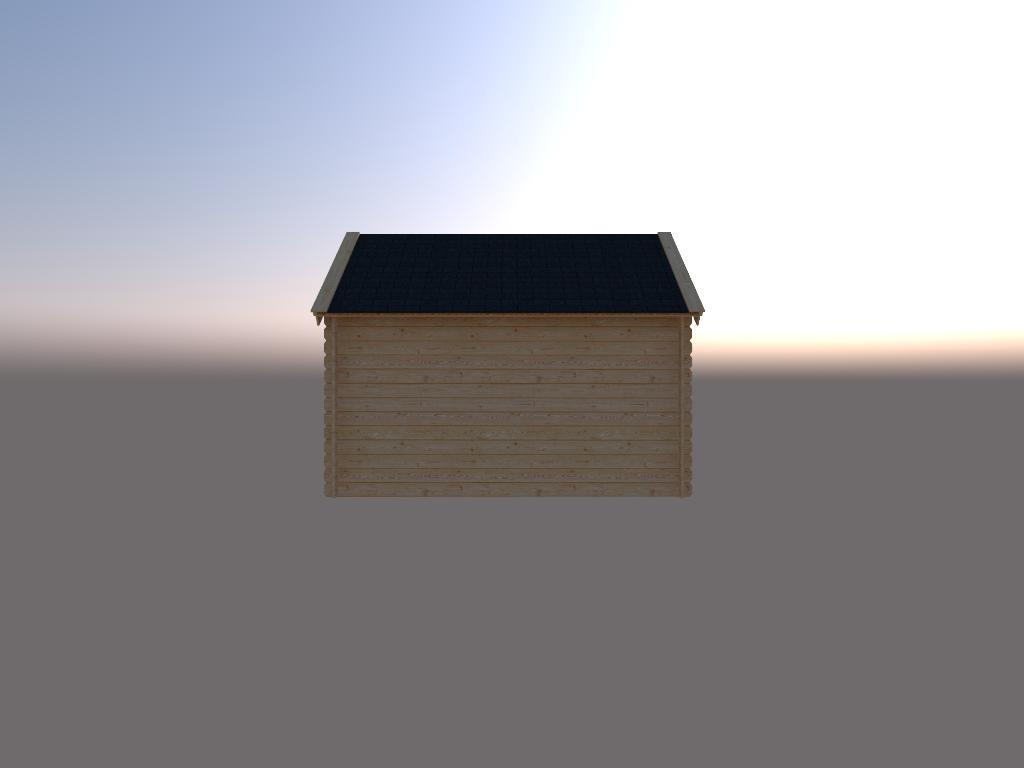 DWF Houten overkapping Kapschuur dak 350 x 200cm
