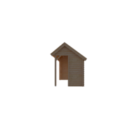 DWF Houten overkapping Kapschuur dak 400 x 200cm