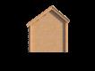 DWF Blokhut met overkapping Kapschuur dak 150 x 200 + 250cm