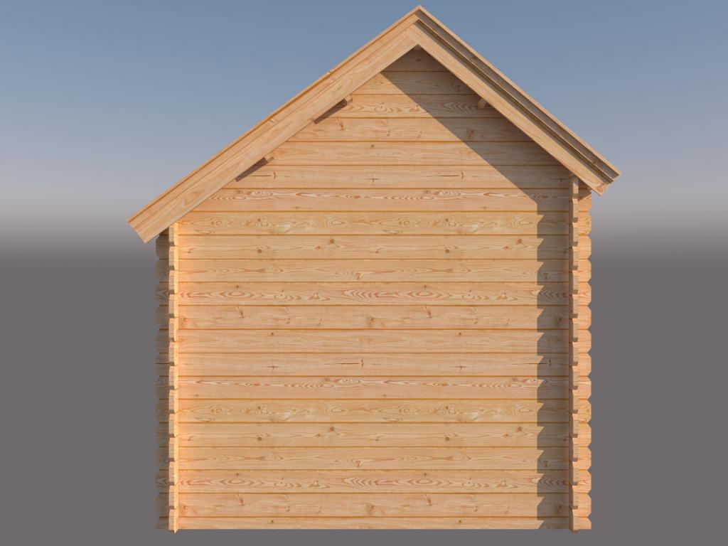 DWF Blokhut met overkapping Kapschuur dak 250 x 250 + 350cm
