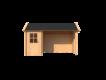 DWF Blokhut met overkapping Kapschuur dak 150 x 200 + 300cm