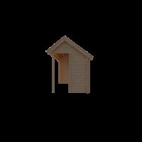 DWF Blokhut met overkapping Kapschuur dak 150 x 200 + 350cm