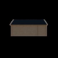 DWF Blokhut met overkapping Kapschuur dak 150 x 200 + 400cm