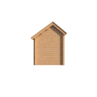DWF Blokhut met overkapping Kapschuur dak 200 x 200 + 400cm