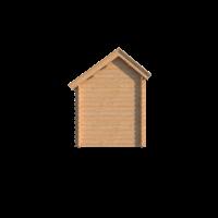 DWF Blokhut met overkapping Kapschuur dak 250 x 200 + 350cm