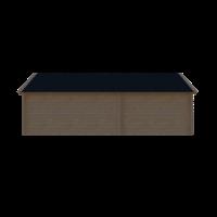 DWF Blokhut met overkapping Kapschuur dak 300 x 200 + 400cm