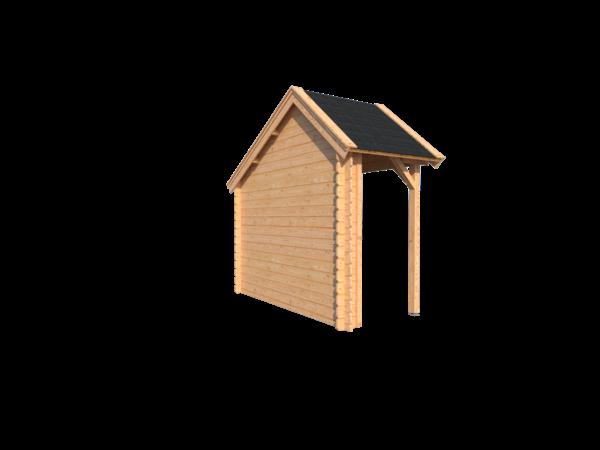 DWF Houten overkapping Kapschuur dak 150 x 300cm