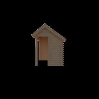 DWF Blokhut met overkapping Kapschuur dak 350 x 200 + 250cm