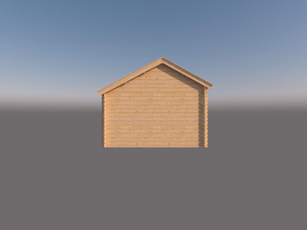 DWF Houten overkapping Kapschuur dak 150 x 350cm