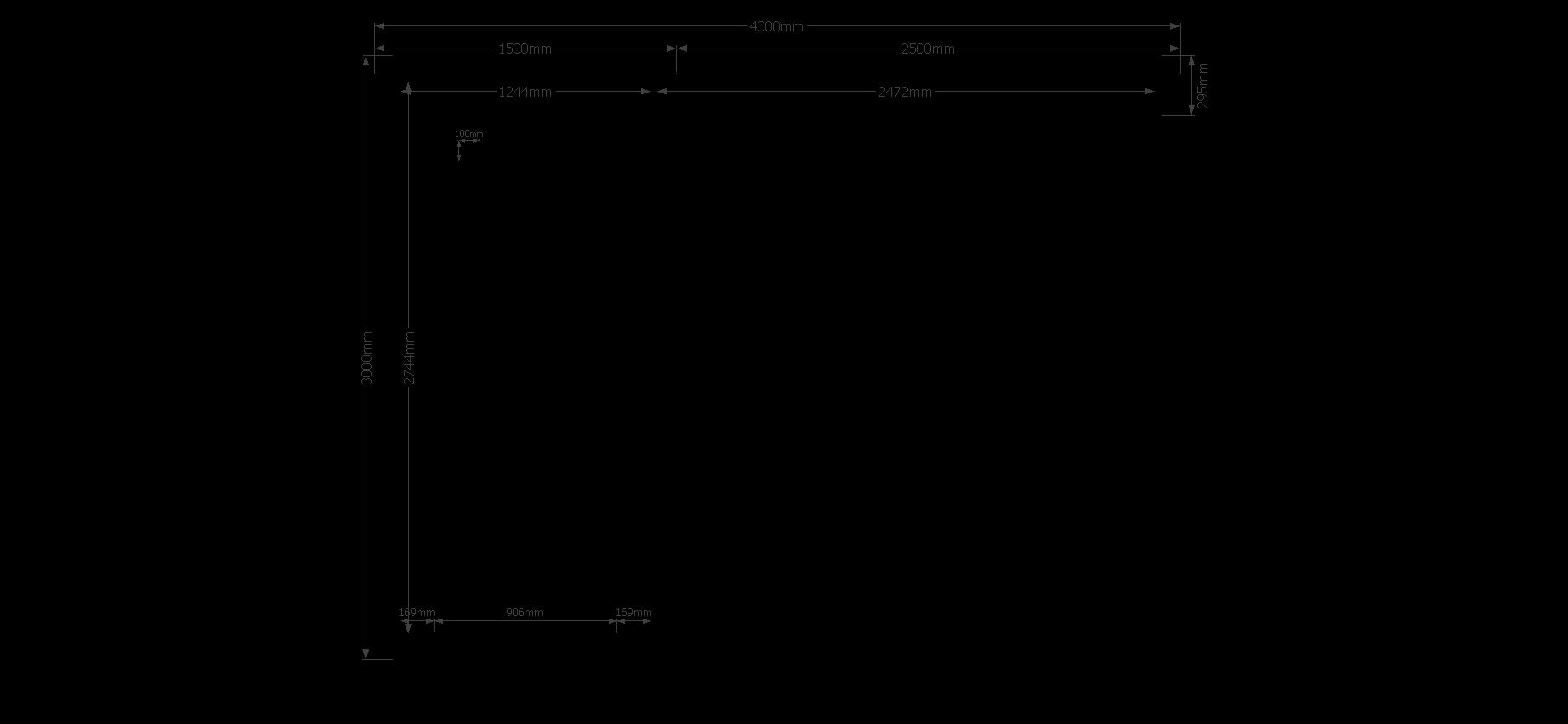 DWF Blokhut met overkapping zadeldak 150 x 300 + 250cm