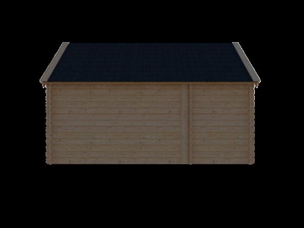 DWF Blokhut met overkapping Kapschuur dak 150 x 250 + 300cm