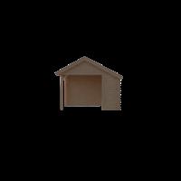 DWF Houten overkapping Kapschuur dak 200 x 350cm