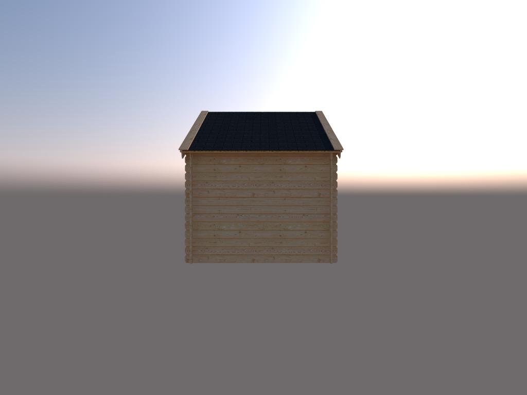 DWF Houten overkapping Kapschuur dak 250 x 350cm