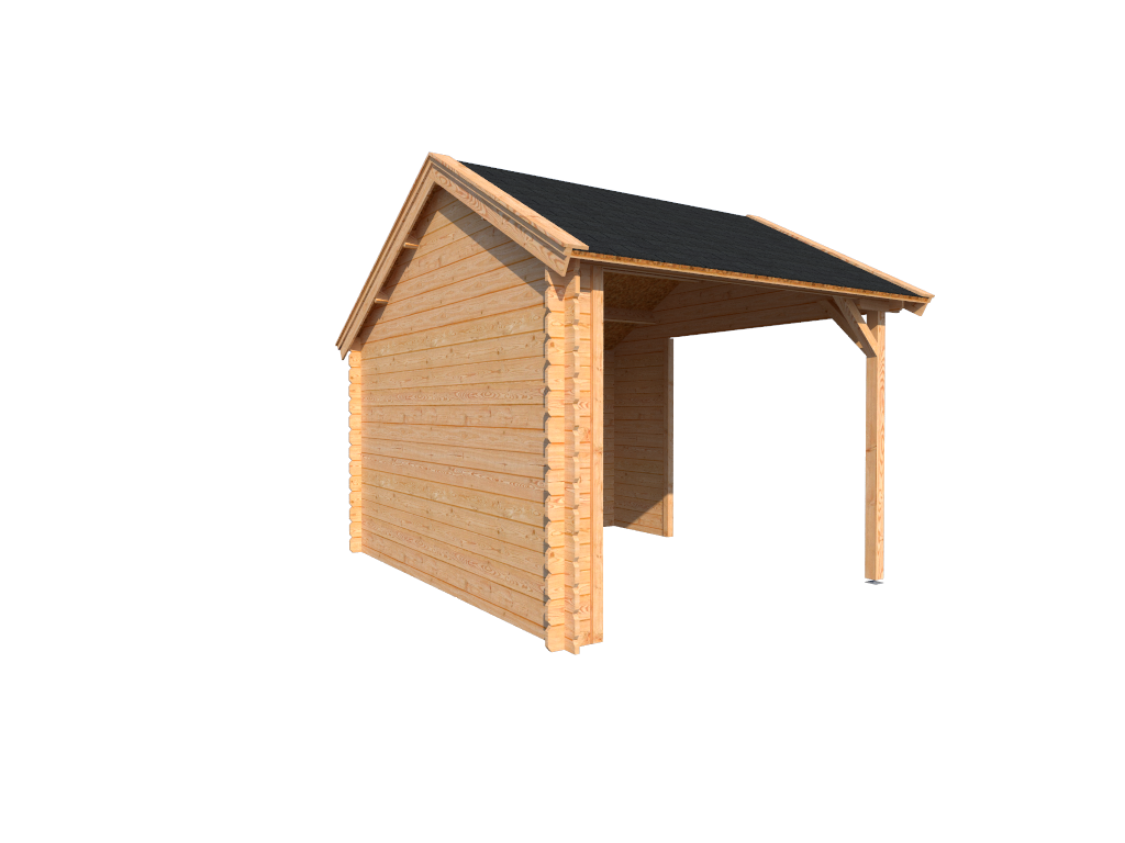 DWF Houten overkapping Kapschuur dak 300 x 350cm