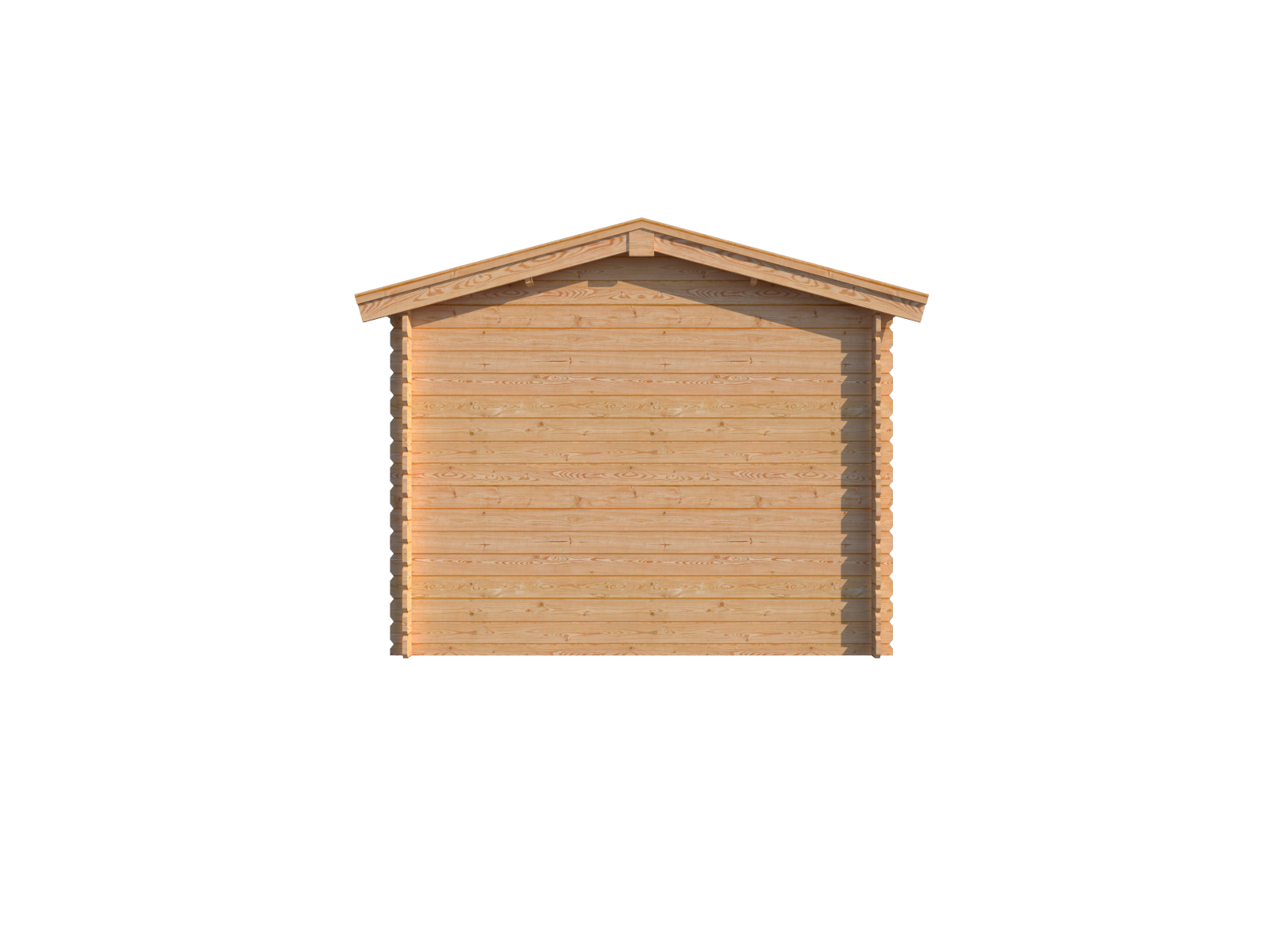 DWF Blokhut met overkapping zadeldak 150 x 300 + 350cm